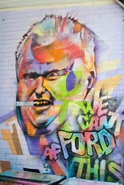 Rob Ford Mural in Kensington Market