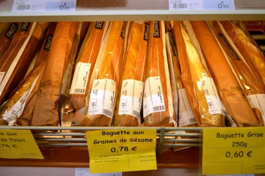 Baguettes in a French Supermarket