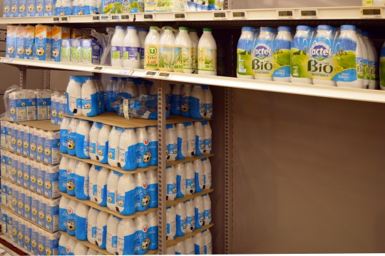 Milk in a French Supermarket