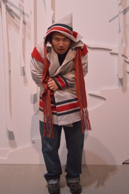 "Feng at the ""Snow"" Exhibition"