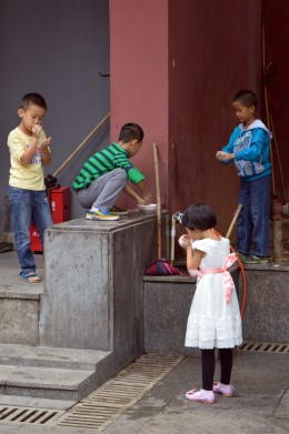 Kids in Changsha