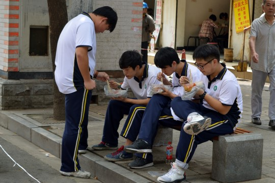 Kids Having Lunch in Wuhan