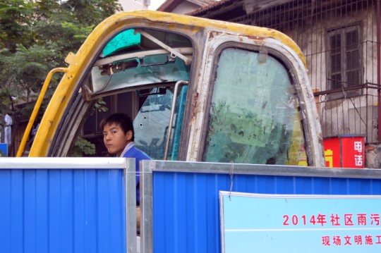 Construction Worker in Wuhan
