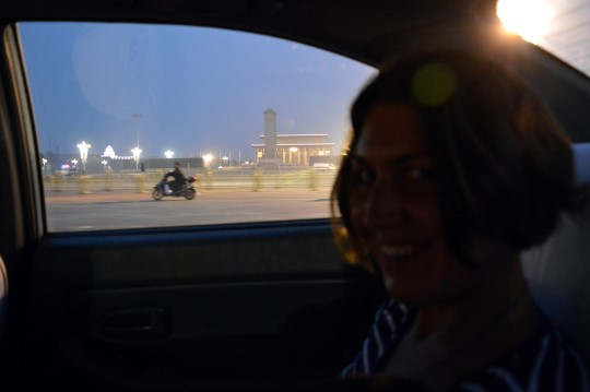 In a Taxi on ChangAn Jie Along Tiananmen Square