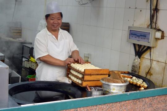 Making Fried Meat Bread