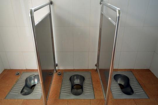 Public Toilets (No Doors!) in a Hutong