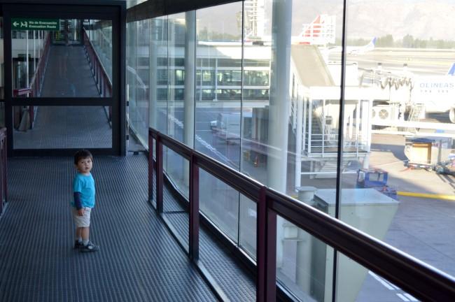 Boarding at Santiago