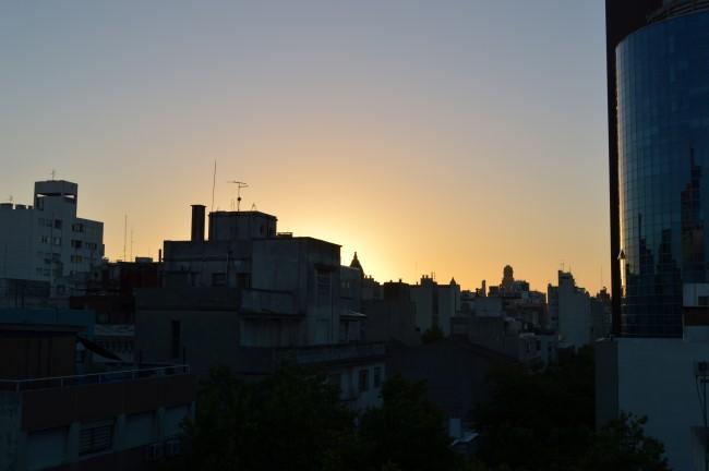 Sunset on Montevideo