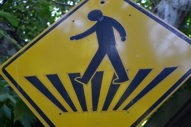 Funky Pedestrian Crossing Sign