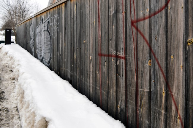Wooden Fence and Snow