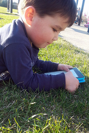 Mark Stole my Kindle at the Park, Ottawa, April 2015