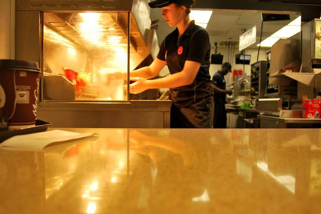 Young Employee at McDonalds, Ottawa
