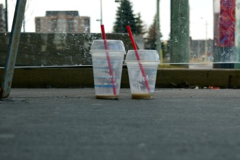 Tim Hortons Cups at the Bus Stop, Ottawa