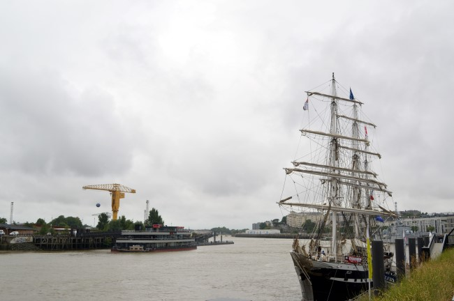 The Belem Moored in Nantes