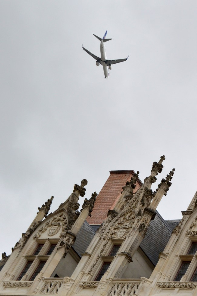 Plane Above the Castle