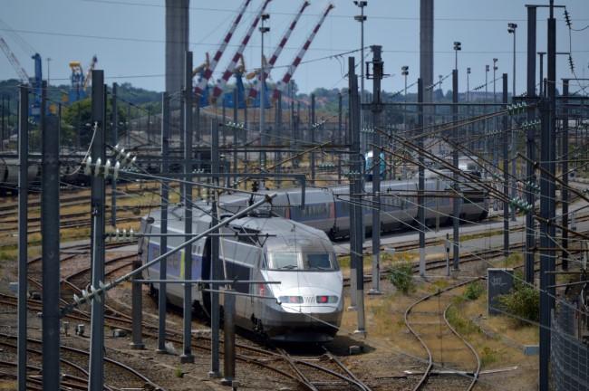 TGV Train Leaving Nantes