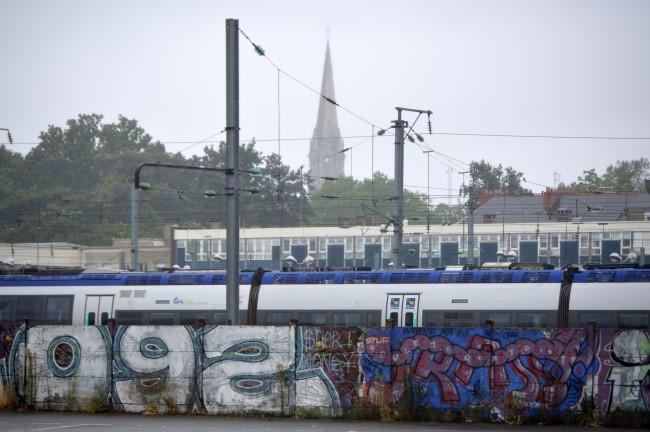 Behind Nantes' Train Station