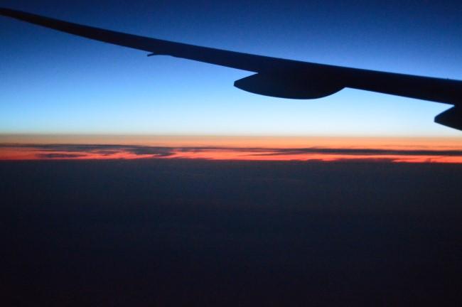 Above the Atlantic Ocean