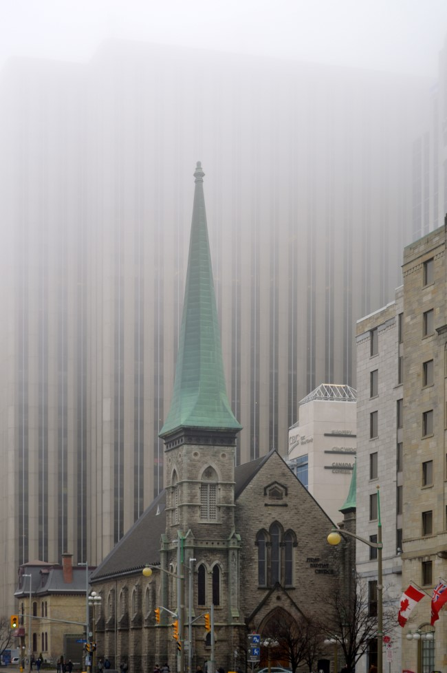 Ottawa's Business District in the Fog
