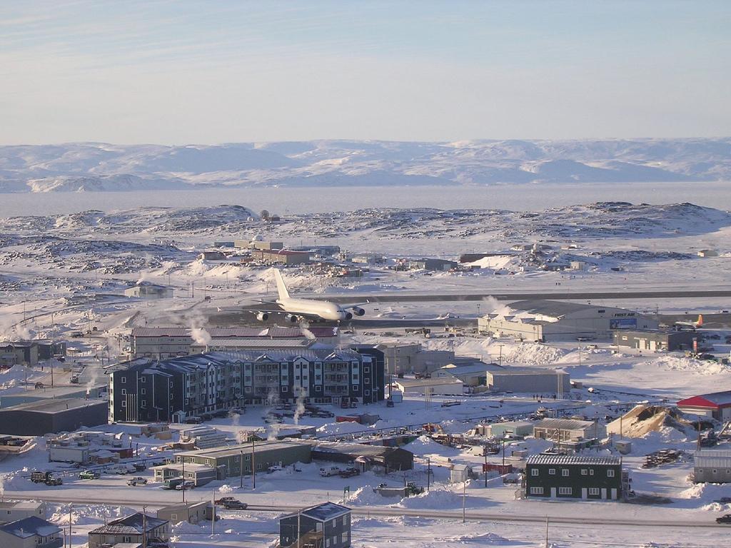 Airbus A380 in Iqaluit