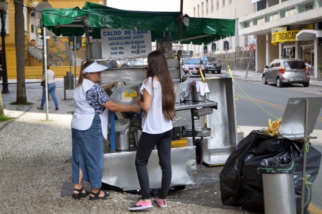 Selling sugar cane juice