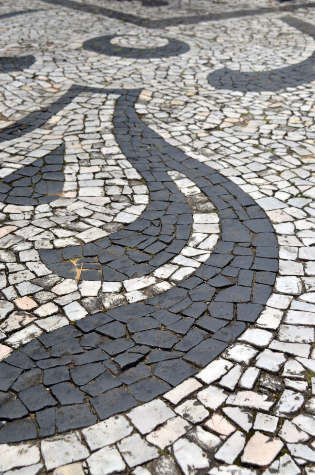 Classic pavement found in many Brazilian cities