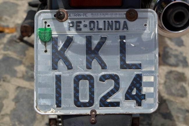 Olinda license plate