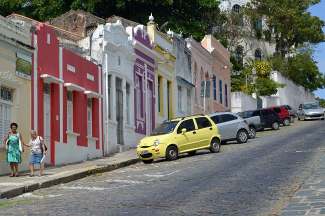 Steep street in Olinda