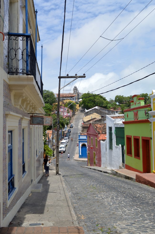 Steep streets of Olinda