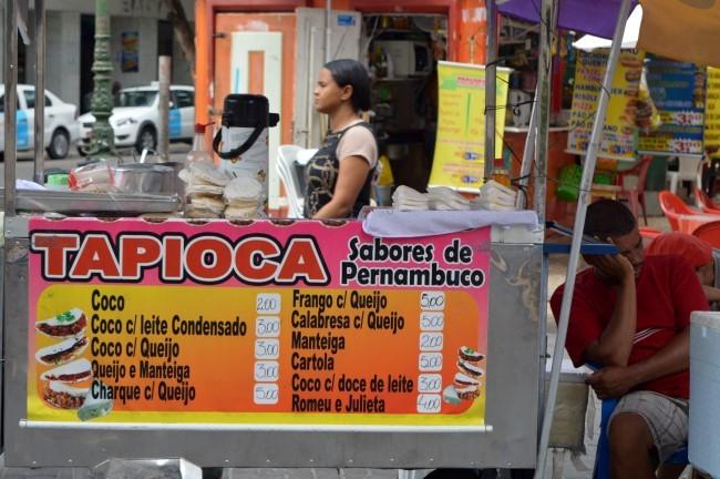Street food: tapioca pancakes