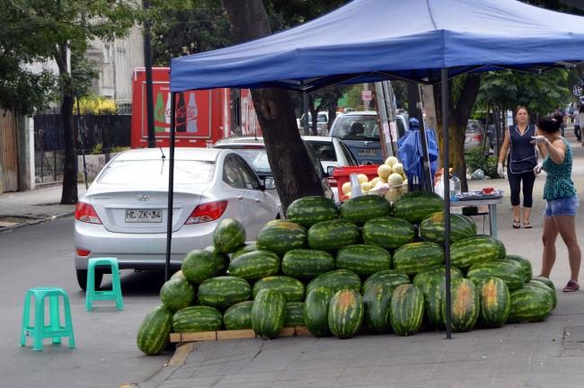Fruit vendor in the street