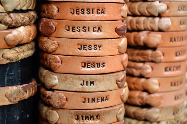 Feria Artesanal Santa Lucia, Jesus is always a popular name