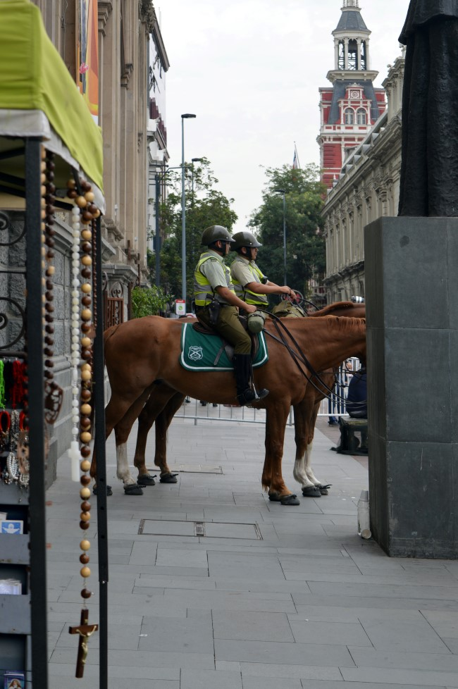 The police with real horses