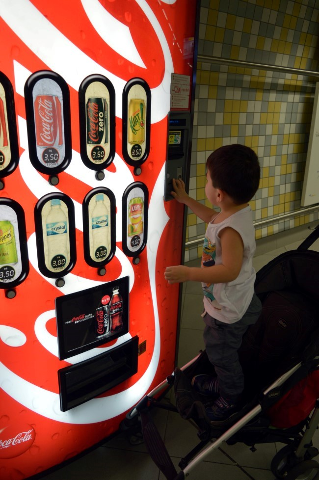 Vending machine in the subway