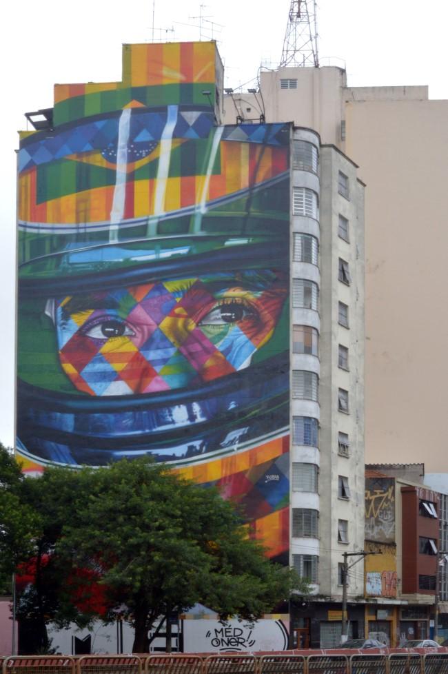 Mural do piloto Ayrton Senna