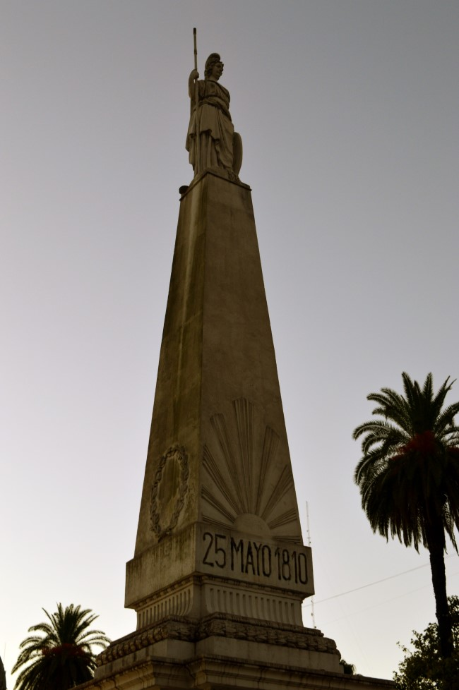Pirámide de Mayo, the oldest national monument in the City of Buenos Aires