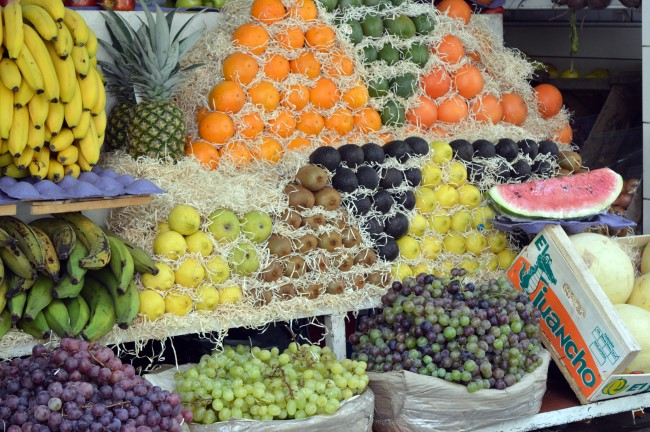Fruits and veggies in La Recoleta