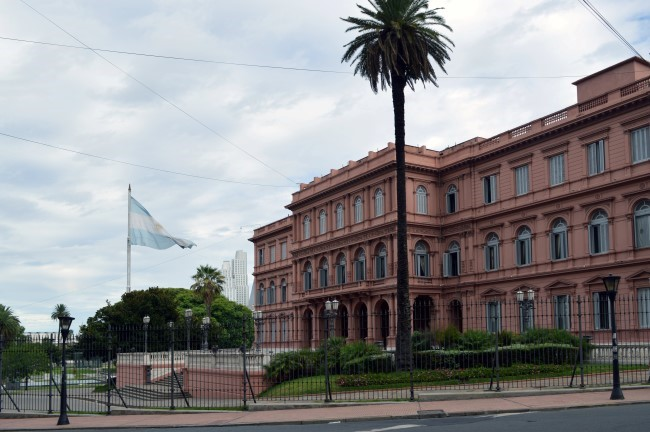 Casa Rosada, the office of the President of Argentina