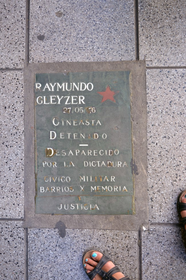 Memorial to one of the political dissidents abducted during Argentina's Dirty War and Operation Condor