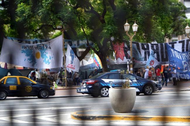 Protest on Plaza de Mayo