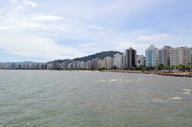 Ilha de Santa Catarina from the waterfront