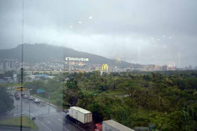 Florianópolis under the rain