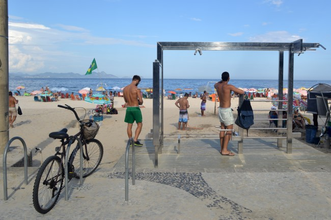 Beach bums on a Saturday afternoon on Copacabana