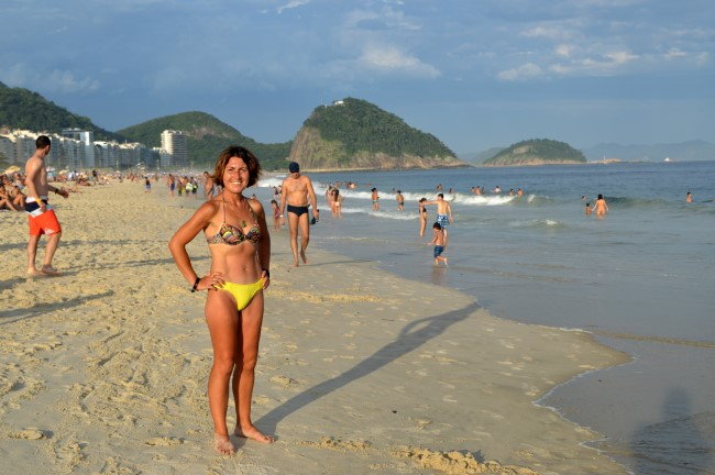 Beach bumming on Copacabana