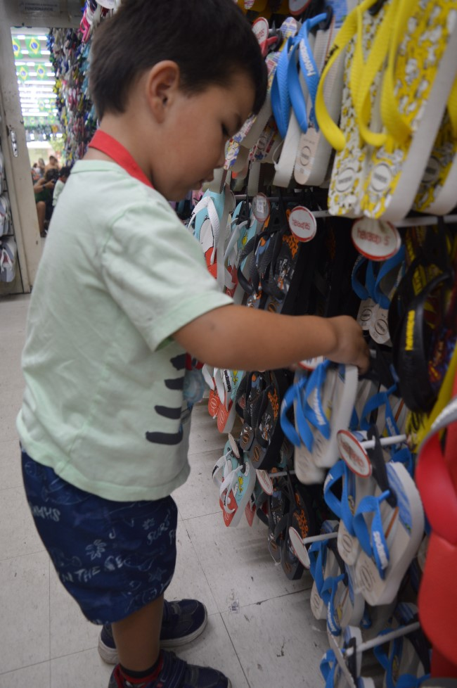 Mark checking out Havaianas