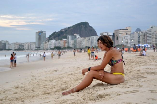 Ending the day in Copacabana