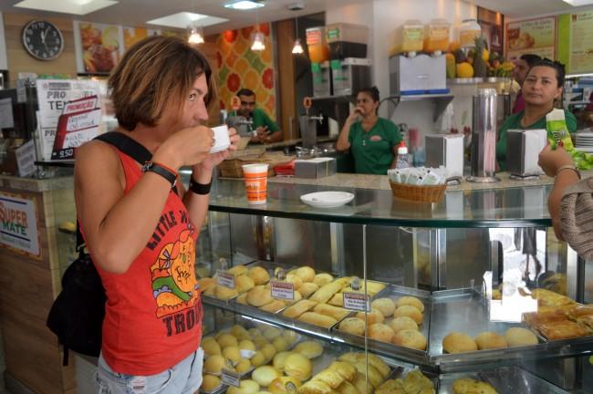 Coffee in a corner store in Centro