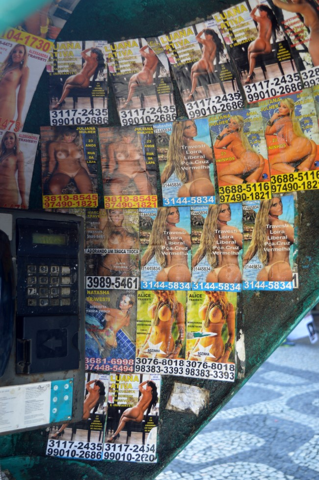 Ads inside a phone booth