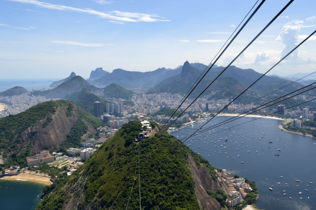Morro da Urca from the Pão de Açúcar