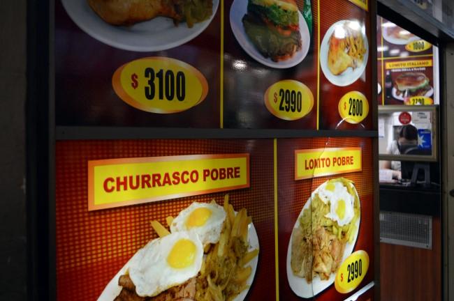Dinner options under the Portal Fernández Concha